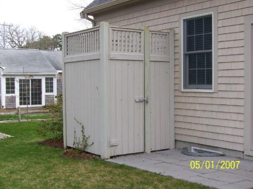 Wood Shower Enclosure
