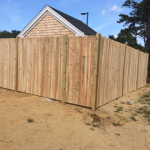 Stockade Fence for Yarmouth Police Kennel