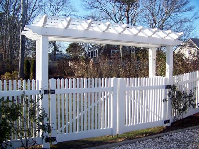 Pergola Dog Ear Double Drive Gate Custom Built Pergola -Pergola 3