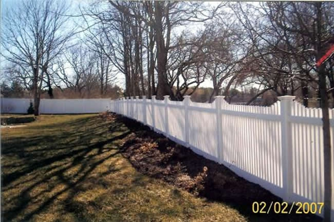 Picket Fence Stepped Vinyl -Picket Fence 6