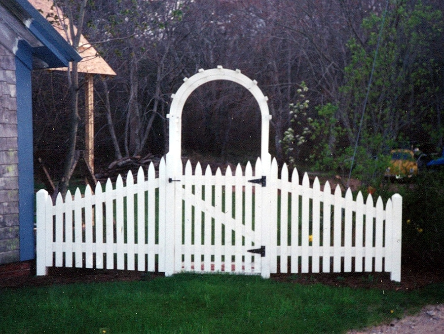 Picket Fence Nantucket Cedar with Arbor -Picket Fence 7