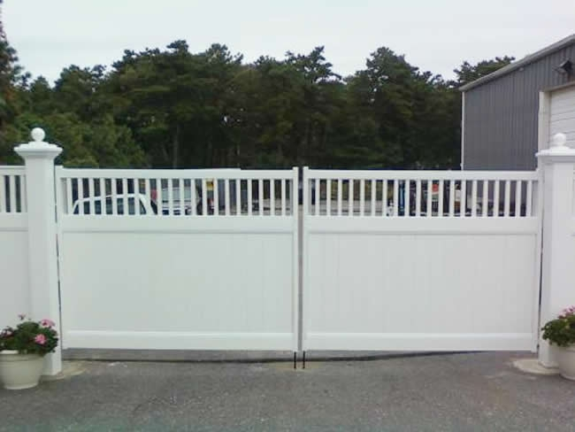 Privacy 4 to 2 Double Drive Gate 6x6 Posts -Privacy 2