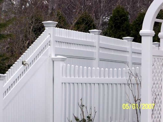 Privacy Fence Baluster Vinyl Scalloped Picket Vinyl - Privacy 10