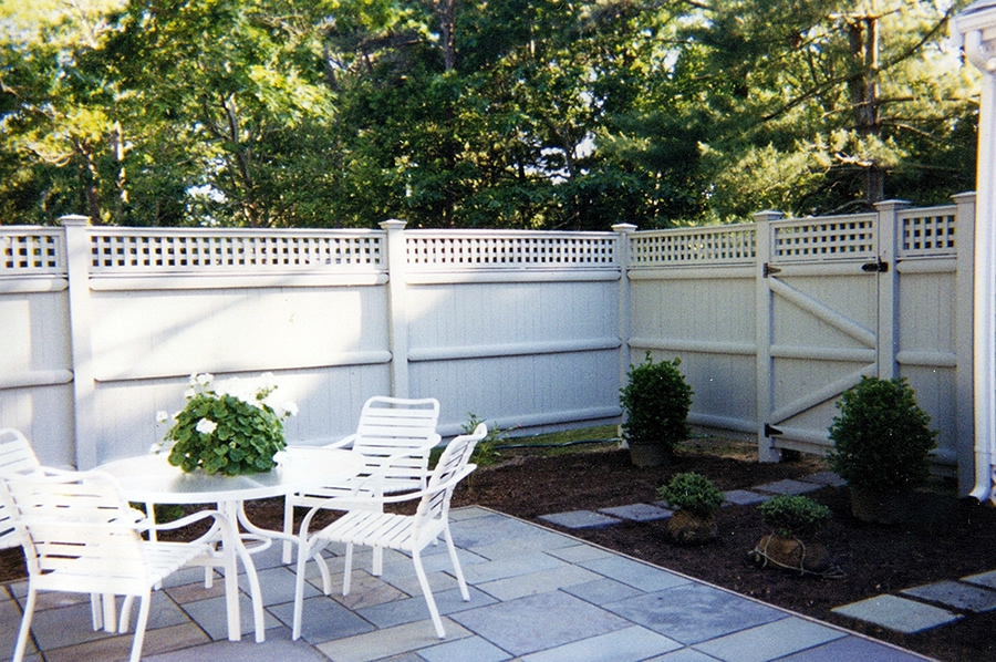 Privacy Fence Board Lattice Cedar Stained White - Privacy 11