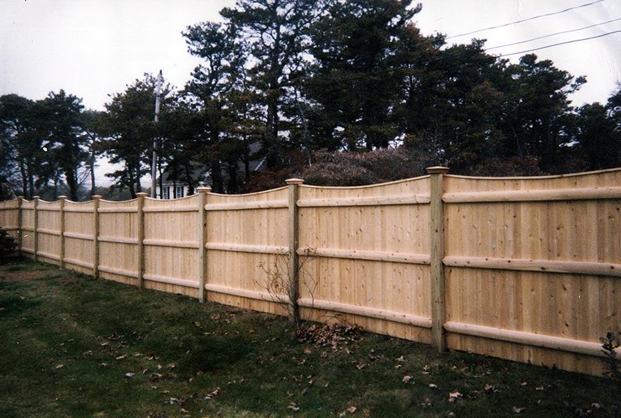 Privacy Fence- Scalloped Cedar Board -Privacy 1