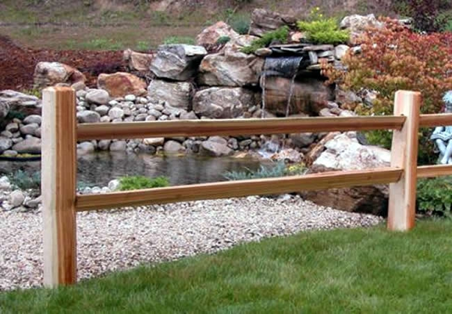 Cape cod rail fencing bennett fence and arbor on