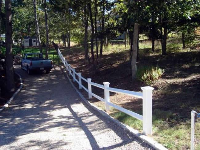 Two Rail Fence Post Choice Caps Any Grade - Rail 7