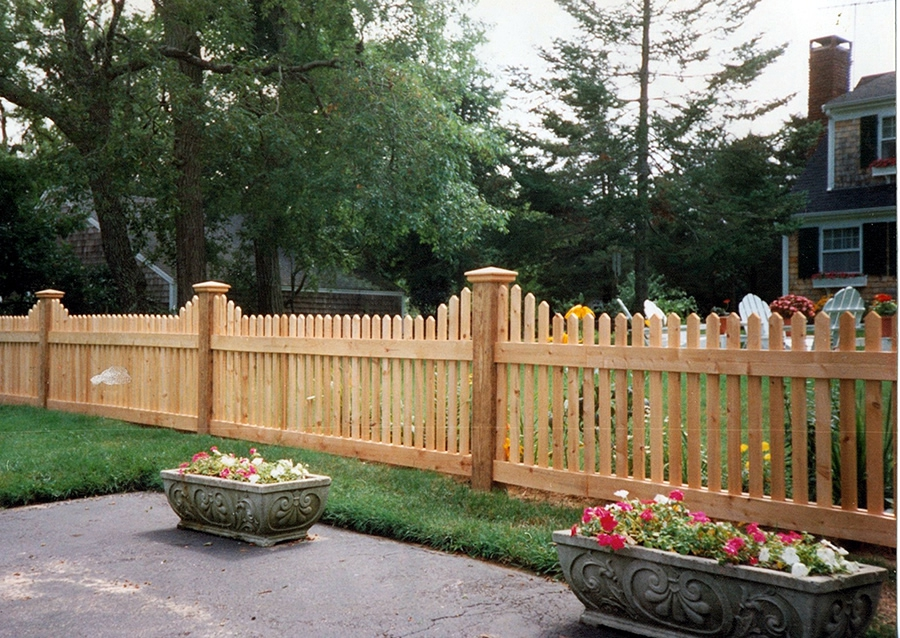 Wayside Cedar Picket Fence Stepped - Picket 18