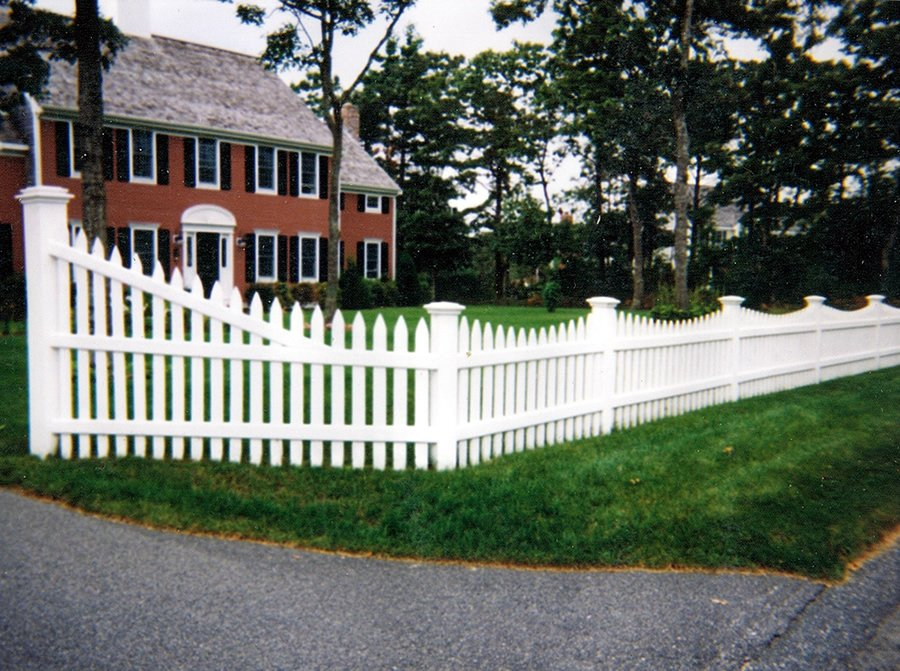 Picket Fence Cedar Nantucket Scalloped -Picket Fence 3