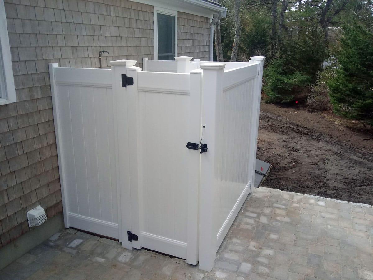 4x6 White Vinyl Shower with Divider - Enclosure 14