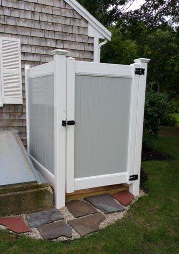 Gray and White Vinyl Shower Enclosure - Enclosure 6