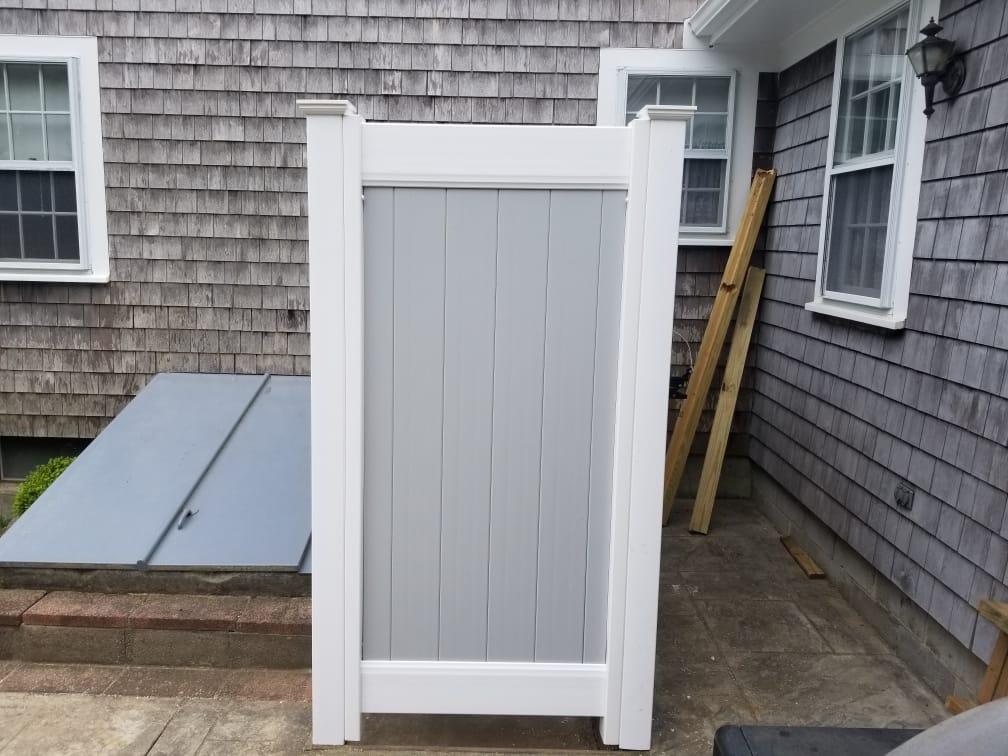 Gray and White 4x6 Vinyl Shower - Enclosure 18