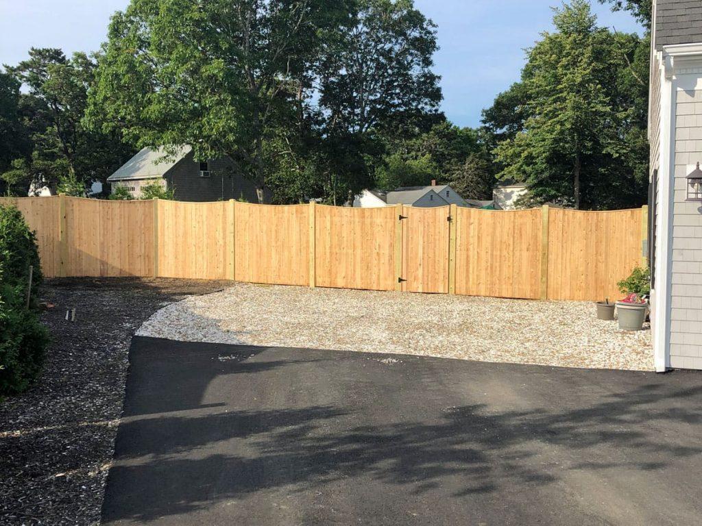 Scalloped Cedar Board - Privacy 46