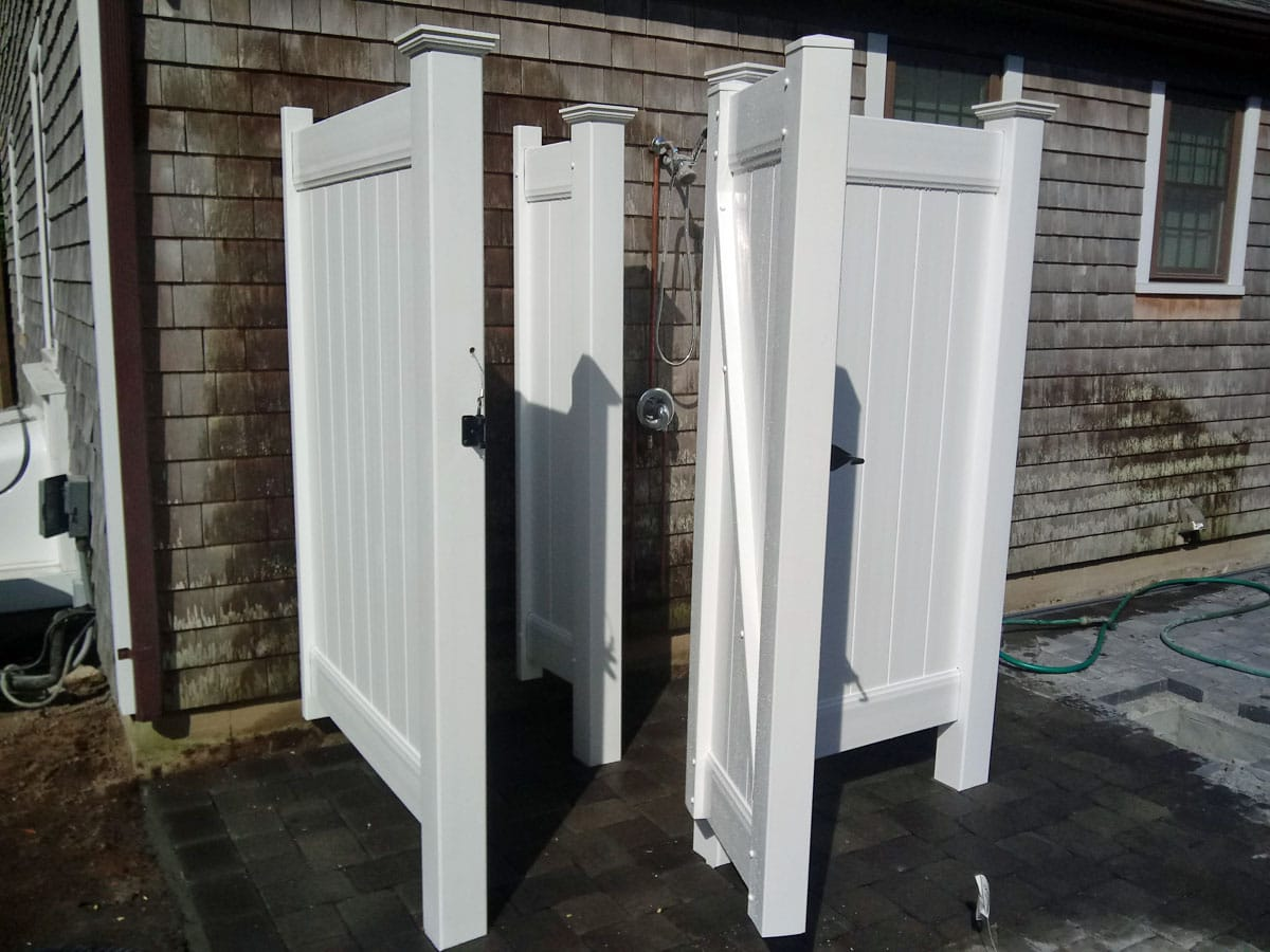 Vinyl Shower Stall with Divider - Enclosure 17