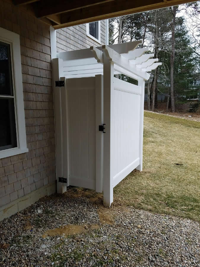 Cape Cod Shower Enclosures Bennett Fence And Arbor On Cape Cod